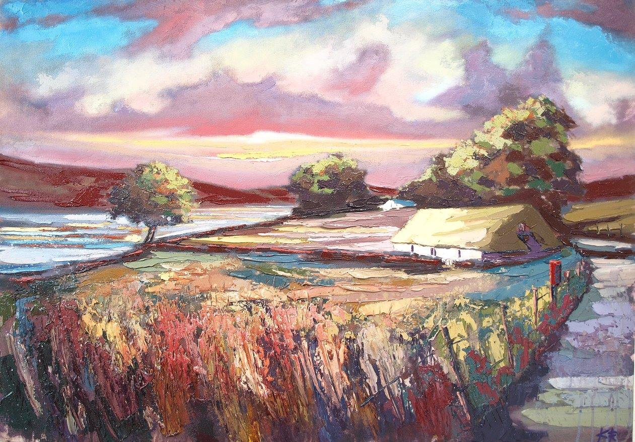 Sunset Croft, Skye Oil on canvas 102 x 76 cm 2017 £2250.00