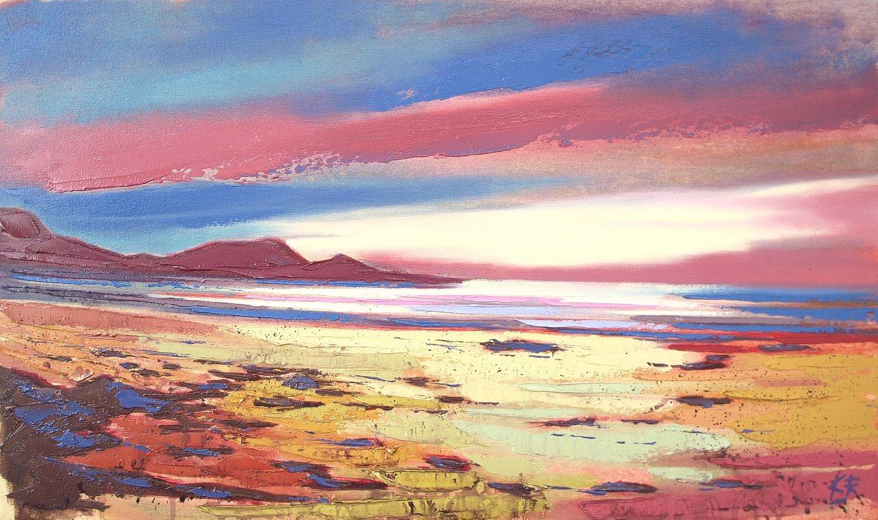 Sunset Sands, Knoydart Oil on canvas 69 x 41 cm  2017 £950.00