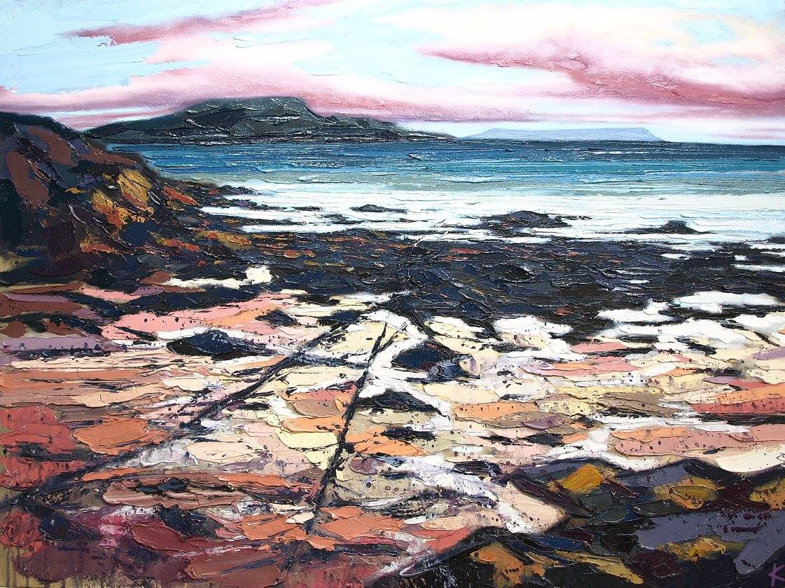View to Eigg, Knoydart Oil on canvas 102 x 76 cm 2017 £2250.00