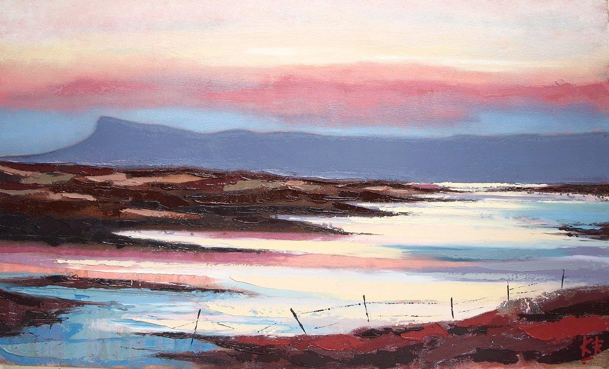 Eigg Reflections Oil on canvas 69 x 41 cm 2017 £950.00