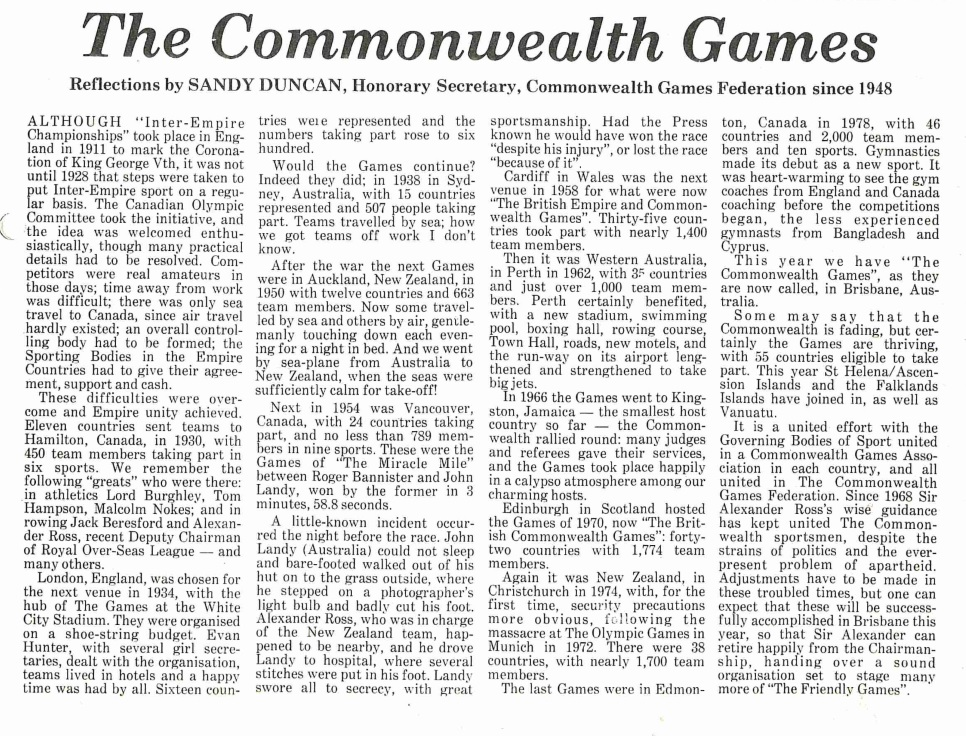 Commonwealth Games 2982