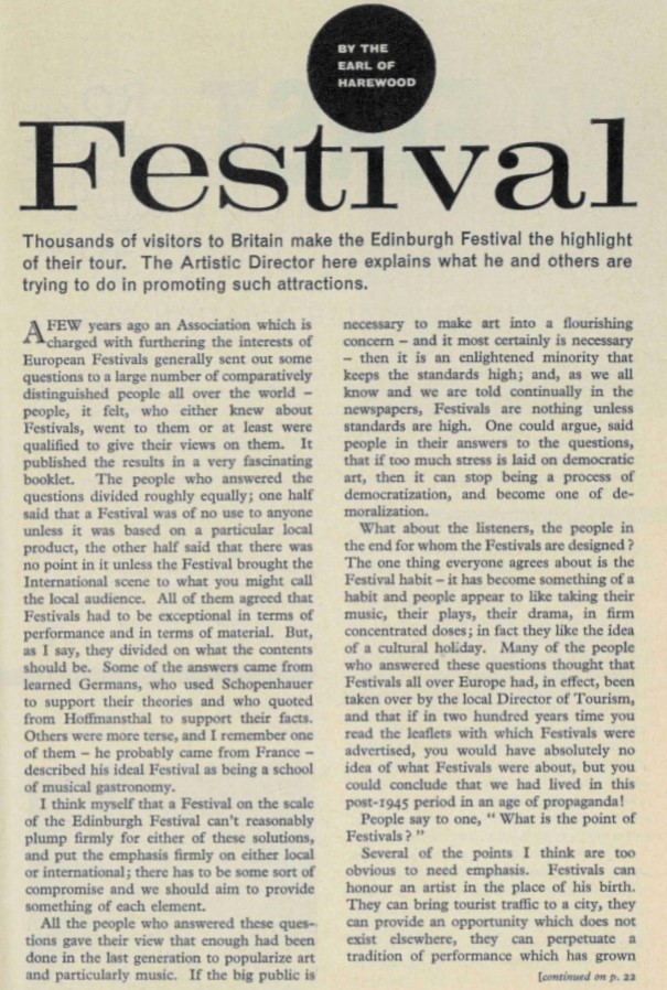 Harewood Festival article 1