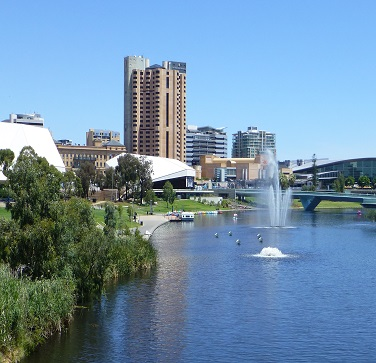 adelaide with footbridge