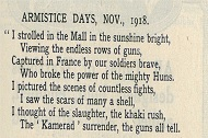 1918 poem about Armistice Thumbnail