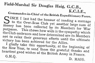 1917 Field Marshal message to club Thumbnail