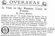 1917 The Russian Lines in France Thumbnail
