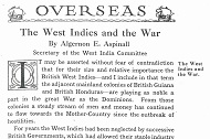 1917 West Indies and the war Thumbnail