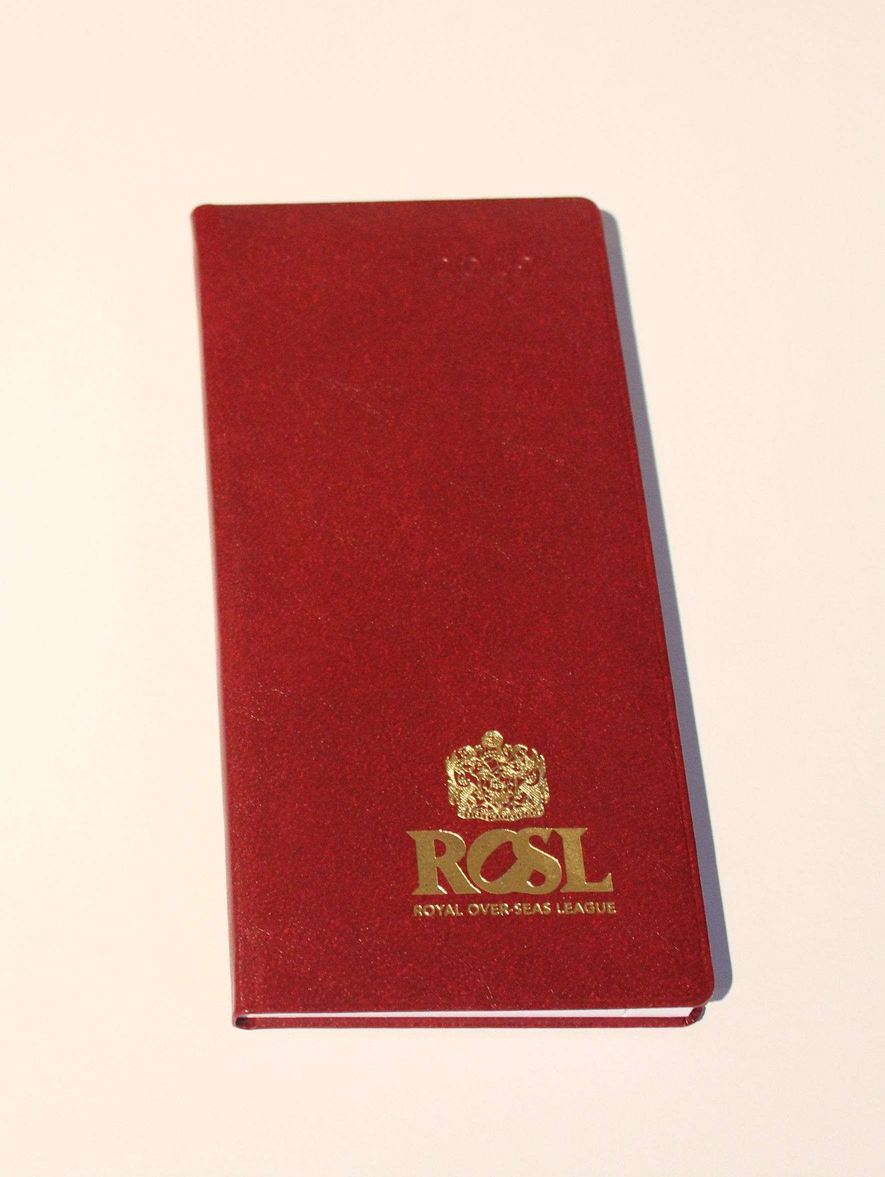 ROSL Pocket Diary (2019)