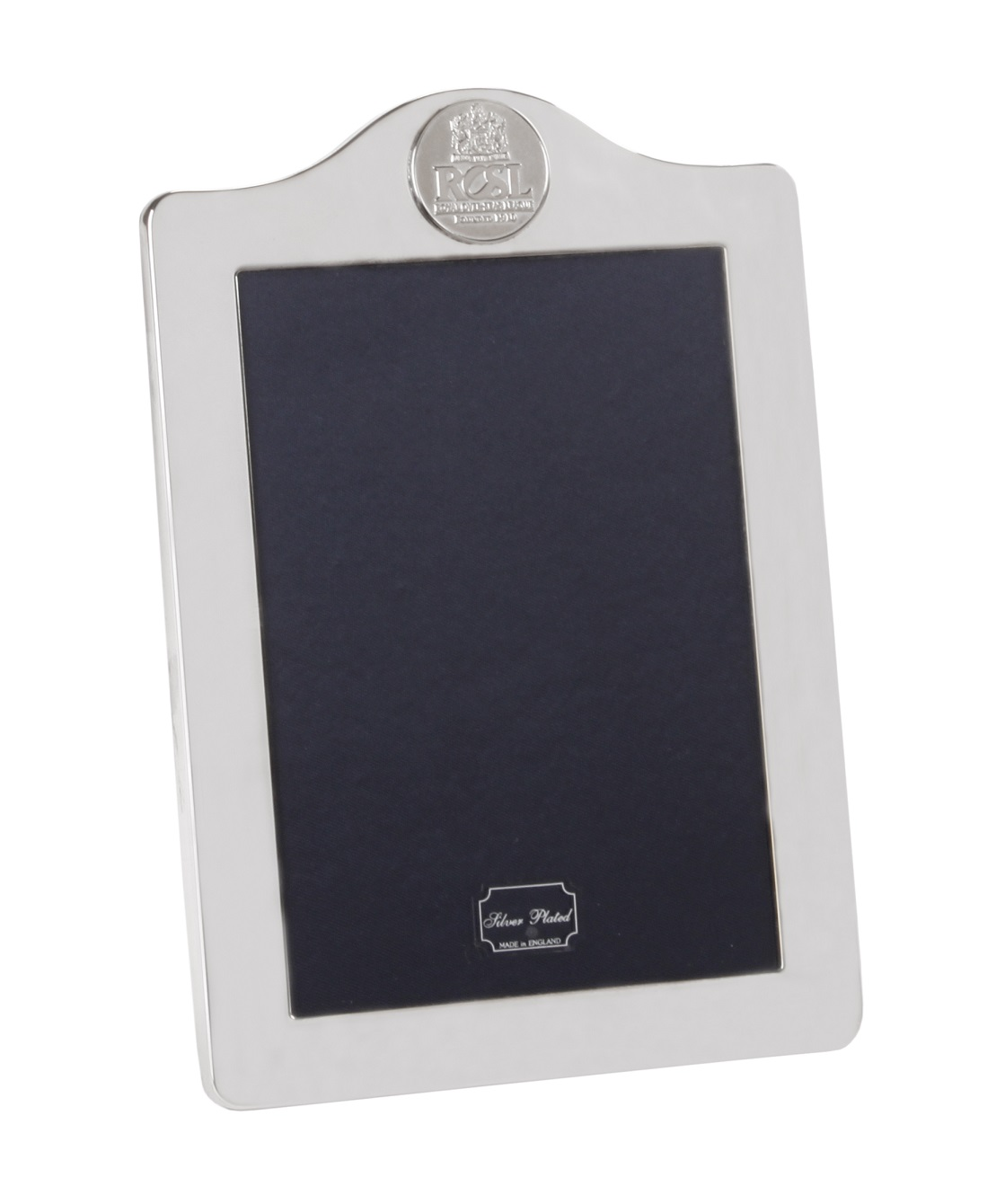 Small silver-plated photo frame