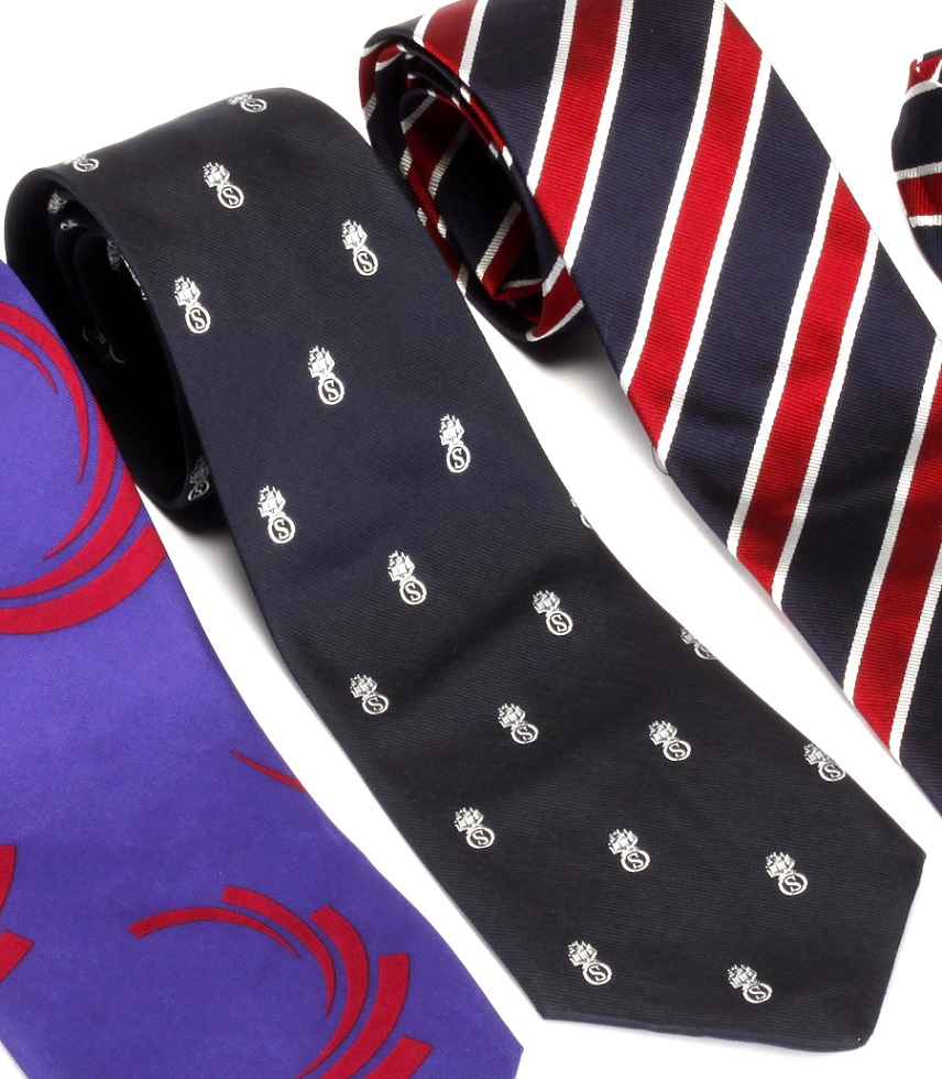 Navy Silk tie with ROSL Crest